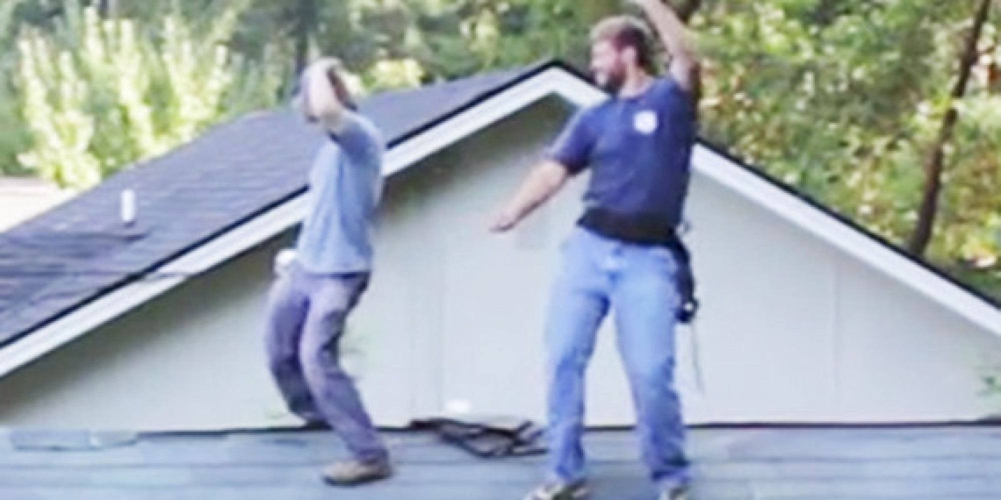 This Guy Believes The Roof Is A Perfect Place For A Dance