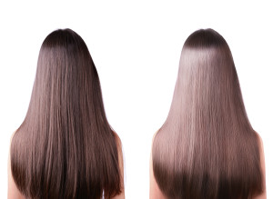 TWO FEMALE LONG HAIR STRAIGHTENING