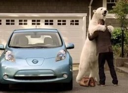 Nissan Leaf Polar Bear