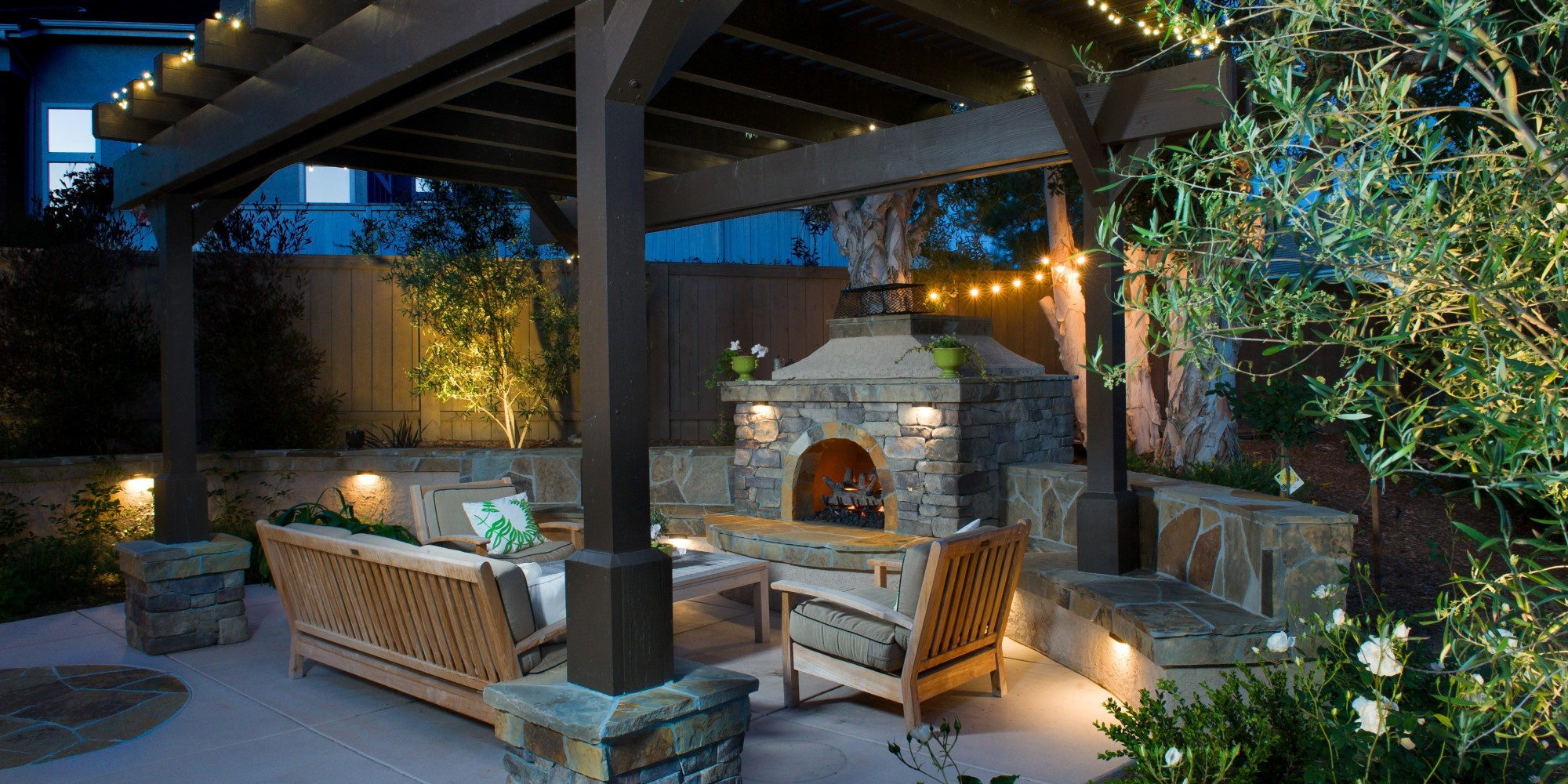 An Outdoor Fireplace Is All You Need To Keep Summer Going ... on Backyard Chimney Fireplace id=58900