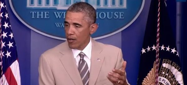 Obama Held An Important Press Conference And All People Cared About Was His Tan Suit
