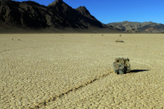 Moving rock in Death Valley | Pic: AP