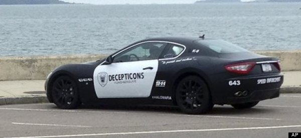 Man Who Painted Maserati As 'Transformers' Robot Accused Of Impersonating Cop
