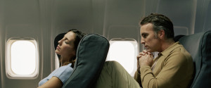 AIRPLANE SEAT RECLINED