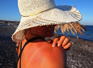 VERY SUN TANNED WOMAN