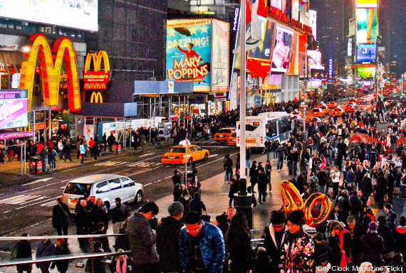 new york crowd walk