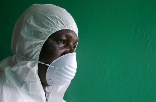 man with surgical mask on