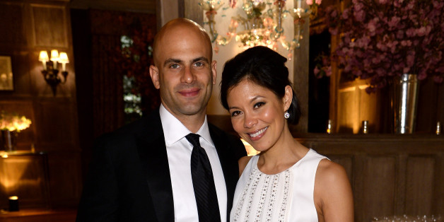 Family photo of the tv-personality, married to Sam Kass,  famous for Center for American Progress & MSNBC.