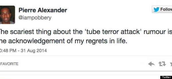 14 People Genuinely Worried About The Tube Terror Attack Hoax