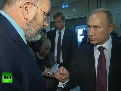 John Sweeney corners Putin