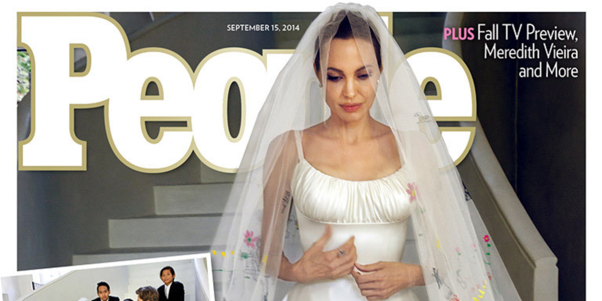 Angelina Jolies Wedding Dress Revealed On The Cover Of People
