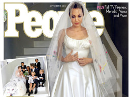 How Angelina Jolie's Kids Contributed To Her Wedding Dress Design