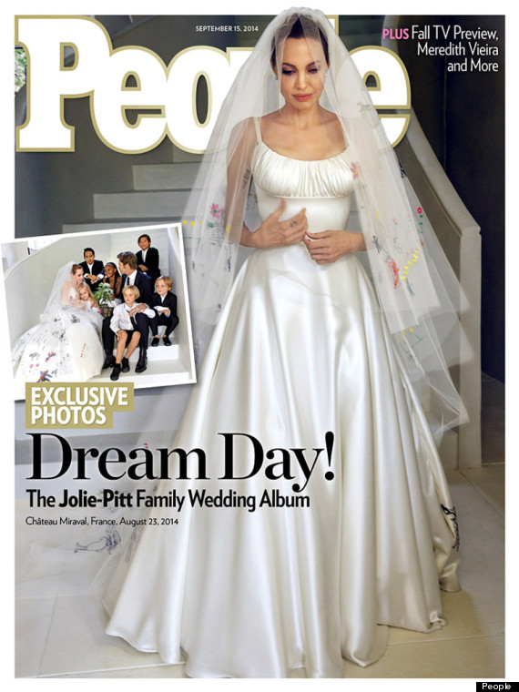 Angelina Jolie\'s Wedding Dress Revealed On The Cover Of People ...