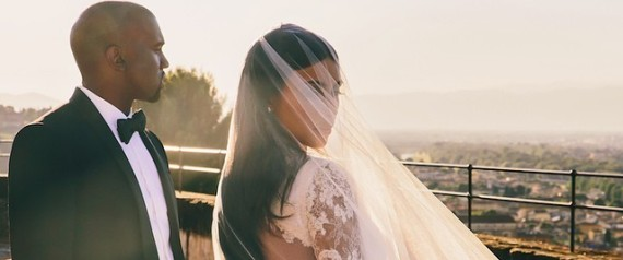 KIM KARDASHIAN WEDDING PORTRAIT