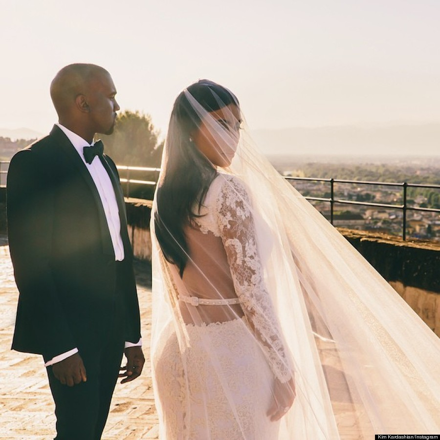 Kim Kardashian And Kanye Wests Wedding Photos
