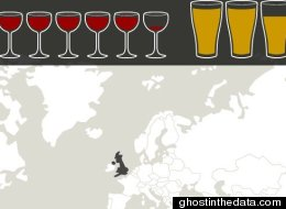 This Interactive Online Map Shows Which Countries Drink The Most Alcohol (And Which Don't)