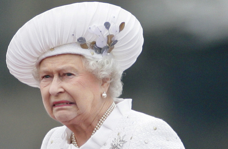 Queen Elizabeth very unhappy