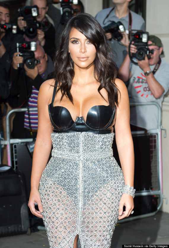 Kim Kardashian Flashes The Flesh In See Through Dress At