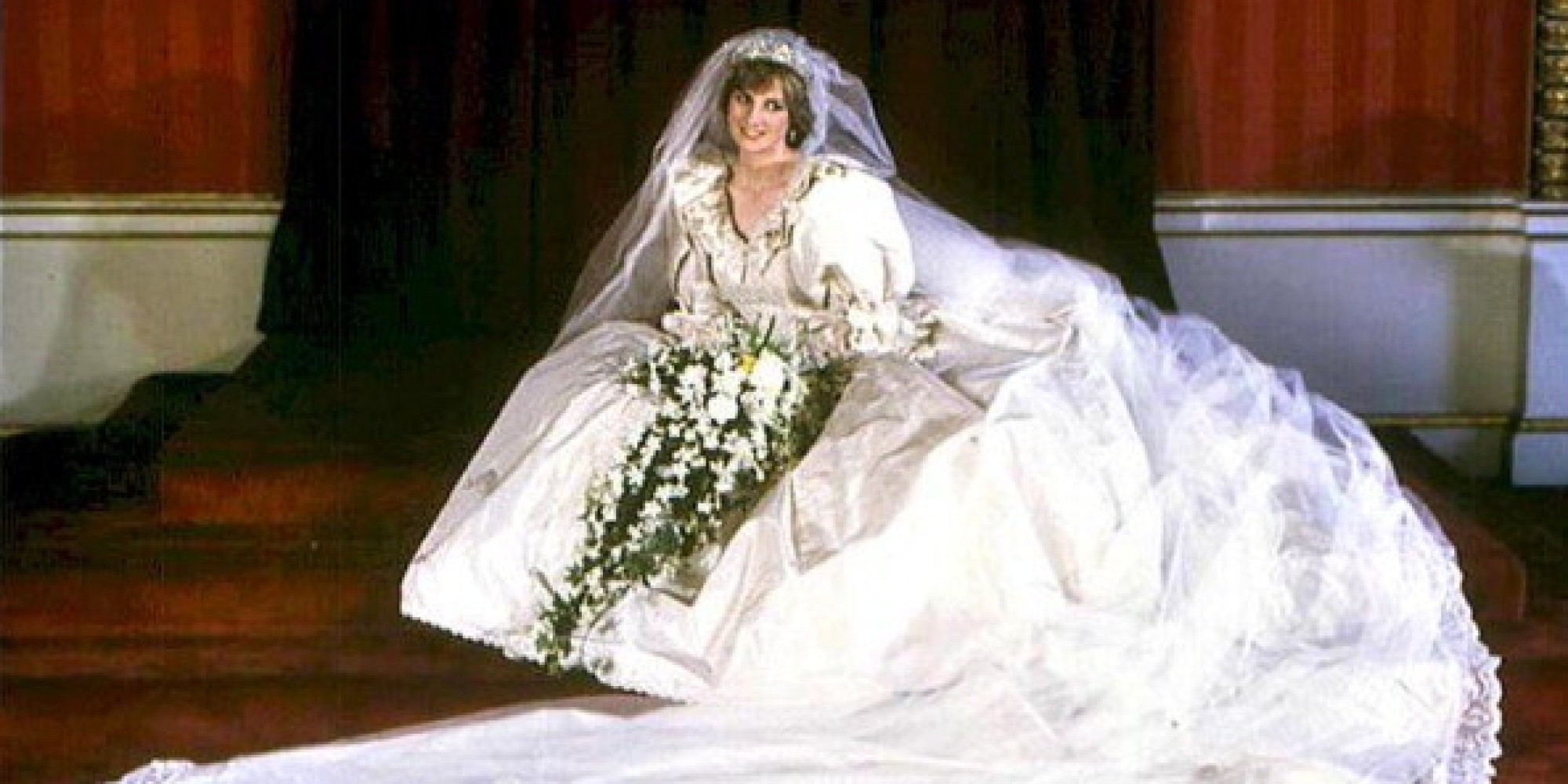 Wedding Princess Diana Wedding Dress princess dianas wedding dress handed down to william and harry huffpost