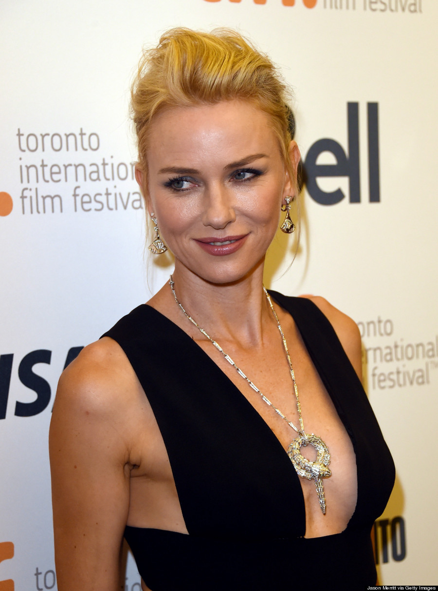 Naomi watts tiff 2014 plunging jumpsuit is sexy chic