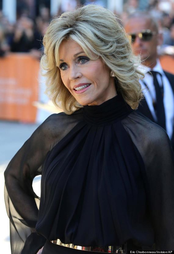 Jane Fonda Tiff 2014 Actress Looks Half Her Age In Classy