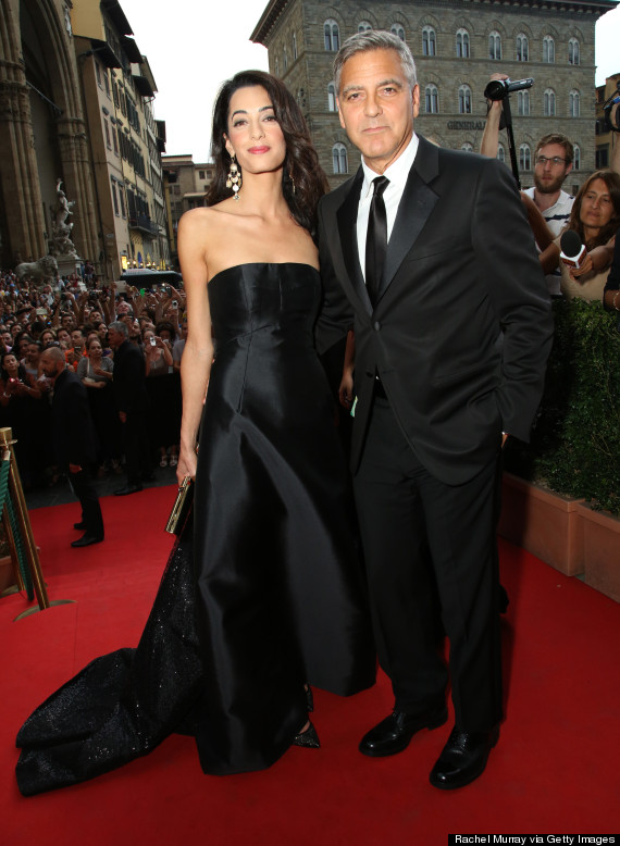 George Clooney And Amal Alamuddin Red Carpet