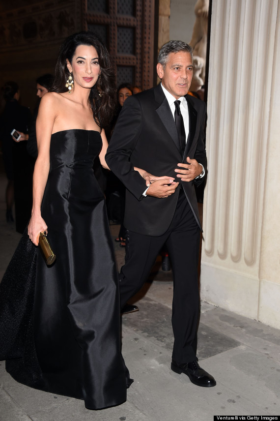 George Clooney And Amal Alamuddin Make Their First Red ...