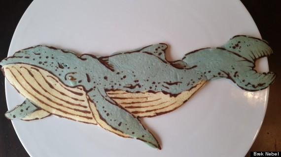 pancake art whale
