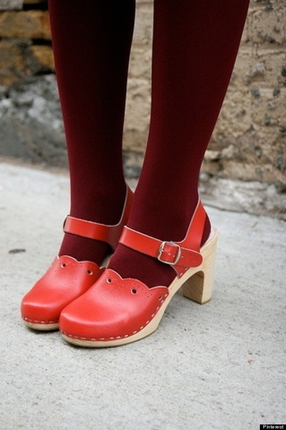 clogs tights
