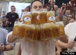 German Man Holds 27 Beers At Once