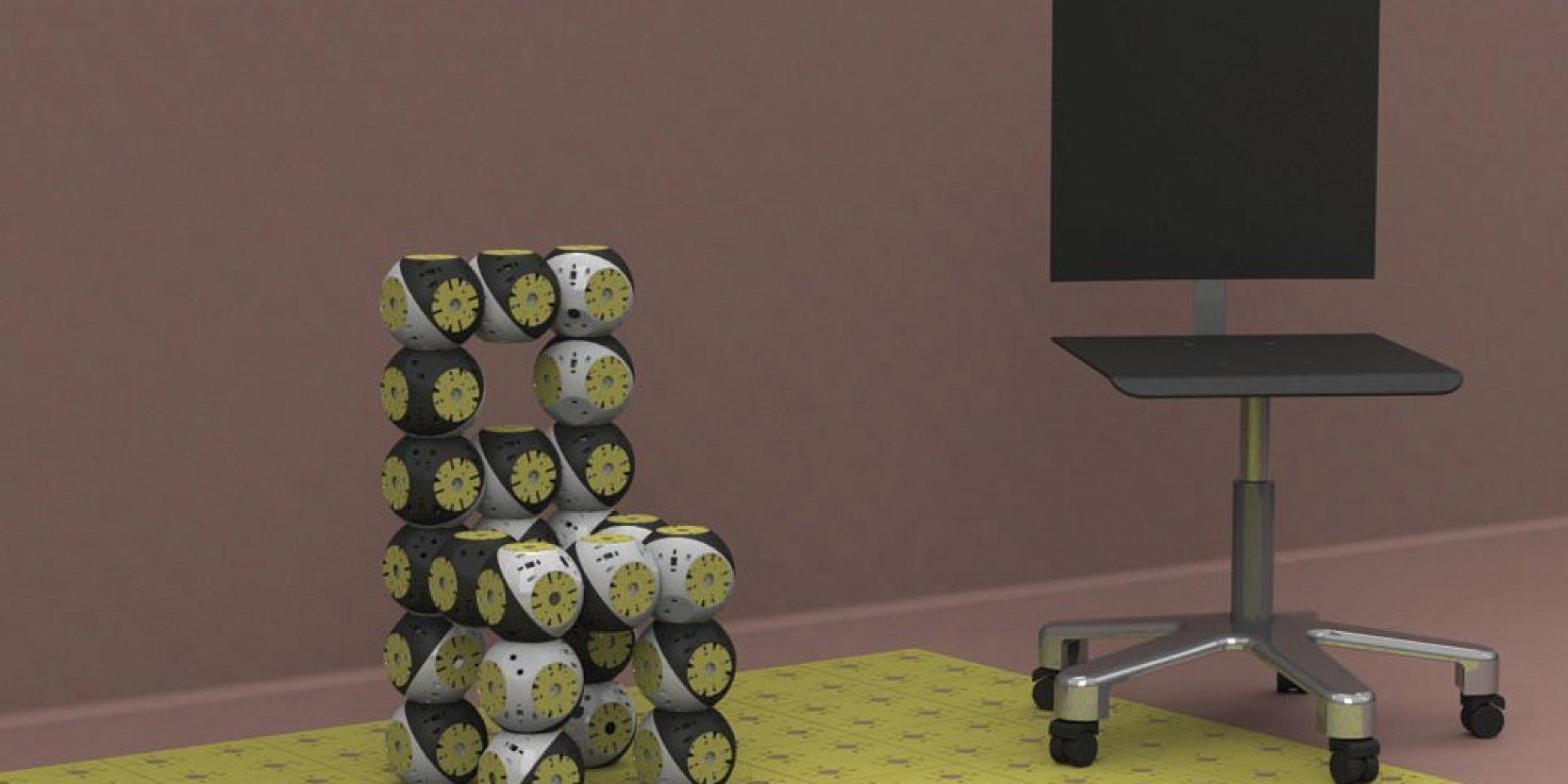 Le roombot un robot qui se transforme en meuble for Meuble qui se transforme