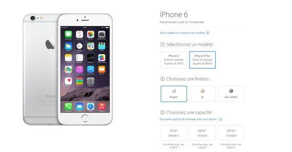 prix iphone 6 plus