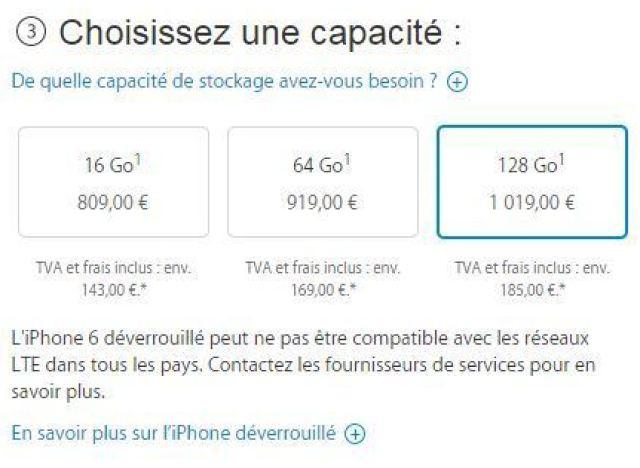 les prix de l 39 iphone 6 plus et de l 39 iphone 6 d voil s les tarifs sans forfait chez orange. Black Bedroom Furniture Sets. Home Design Ideas