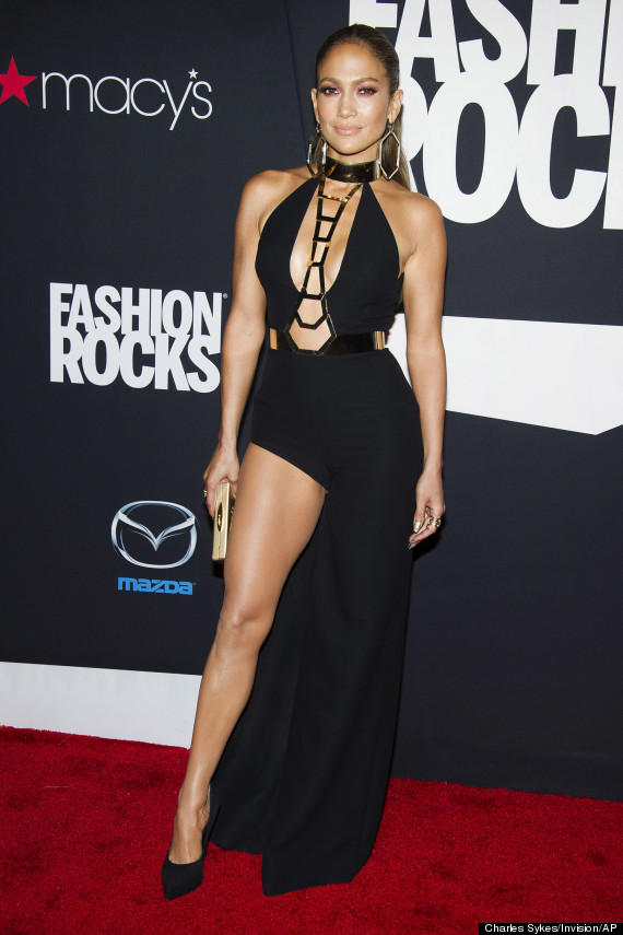 Jennifer Lopez Dons Impossibly Sexy Black Dress At Fashion Rocks ...
