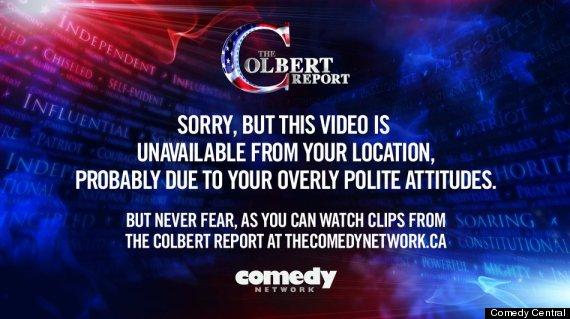 colbert report geoblock