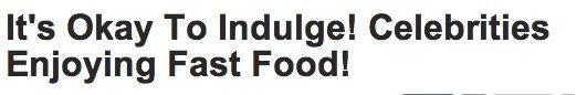 celebrity fast food