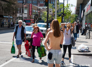What Happened When A Woman Walked Around Topless In Montreal (NSFW)