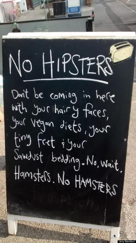 hipsters hamsters cafe chalkboard