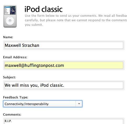 apple ipod classic form