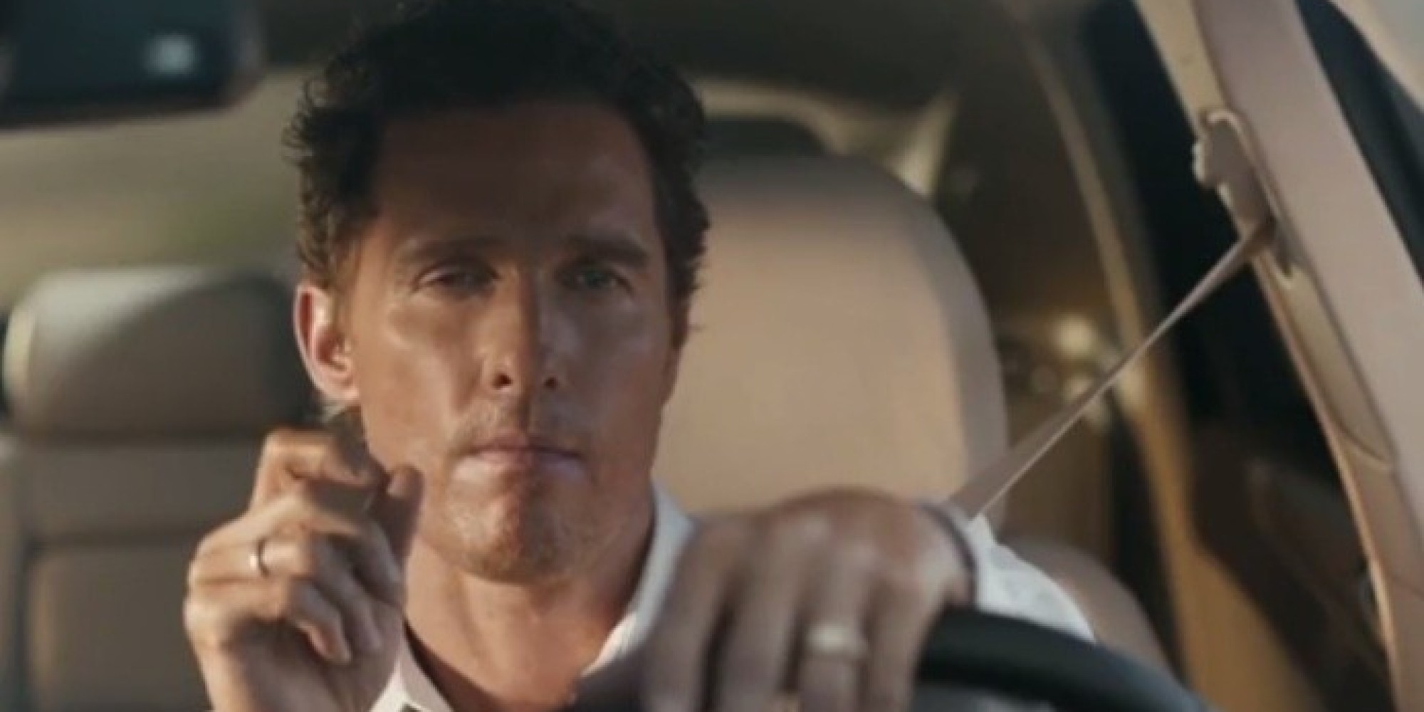 matthew mcconaughey 39 s lincoln ad just got a 39 true detective 39 remix huffpost. Black Bedroom Furniture Sets. Home Design Ideas