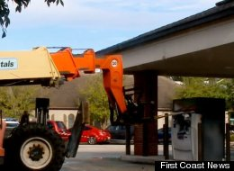 Thieves Steal Forklift To Rob ATM