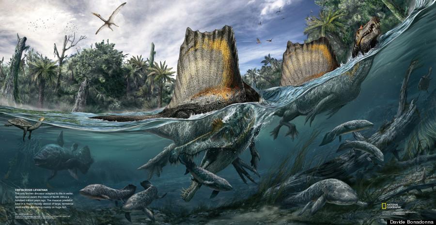 Ahora que viene Jurassic World, tendrán que buscar una muy buena razón para justificar las piernas largas del Espinosaurio, eso o un hechicero lo hizo.