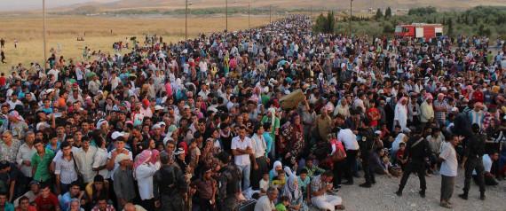 THOUSANDS SYRIAN REFUGEE