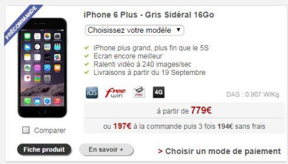 iphone 6 les prix avec forfaits chez orange sfr free bouygues telecom. Black Bedroom Furniture Sets. Home Design Ideas
