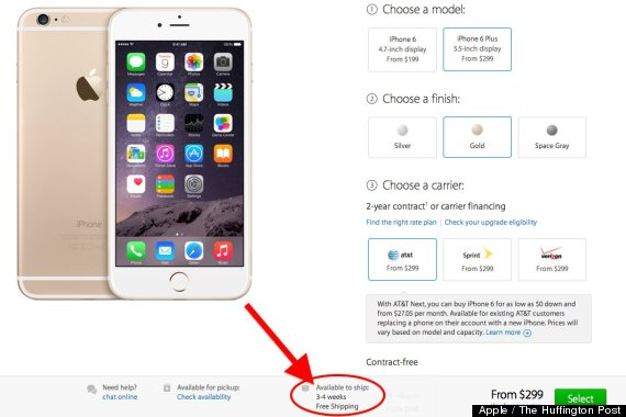 iphone 6 plus backordered
