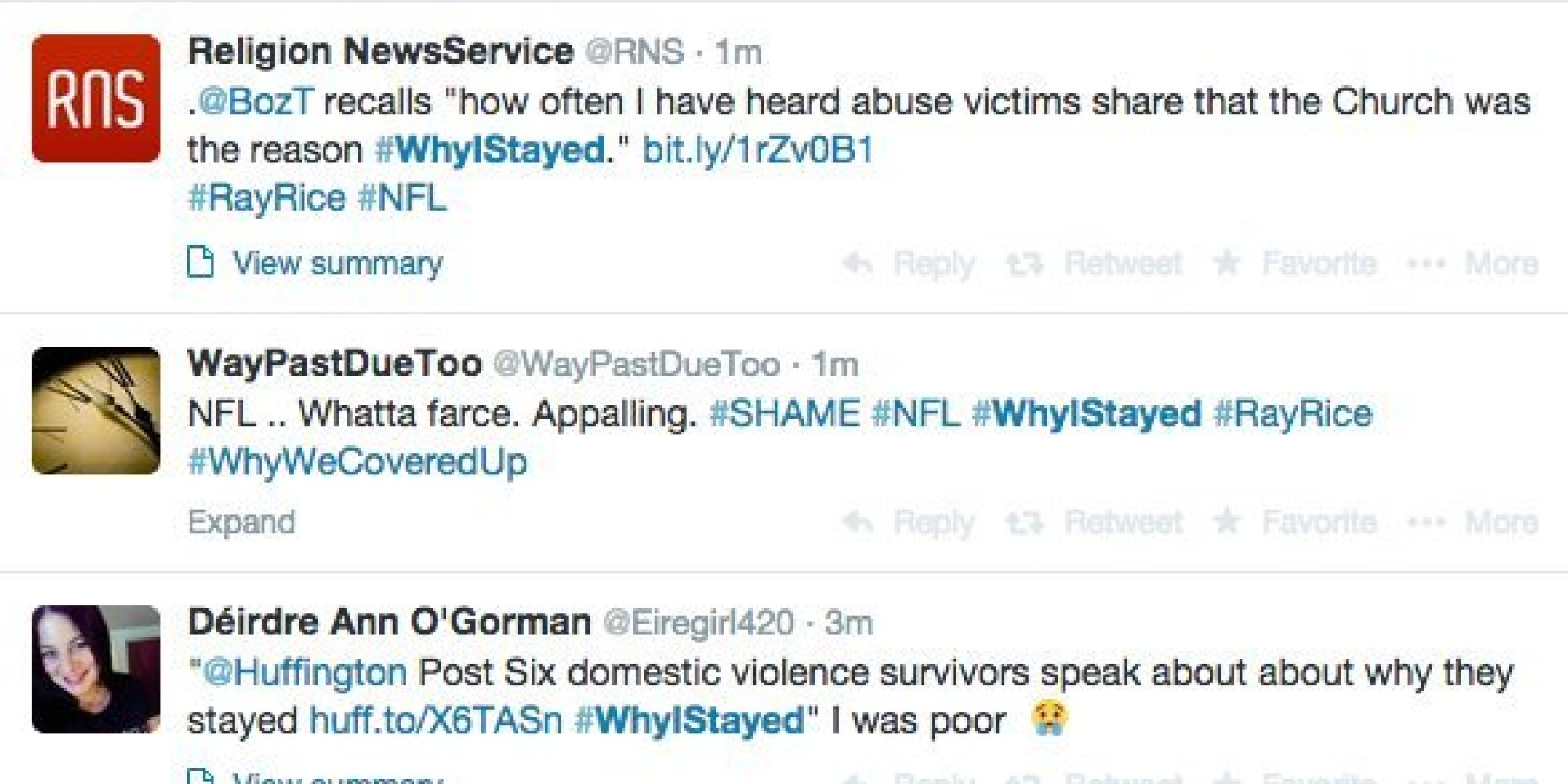 WhyIStayed Is Our Hashtag, Too | HuffPost