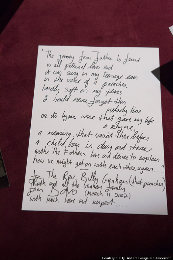 Lyric friend of god lyrics : U2's Bono Once Wrote A Poem For Billy Graham: 'The Journey From ...