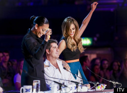 Simon, Cheryl And Mel 'Get It On' At The First 'X Factor' Live Auditions