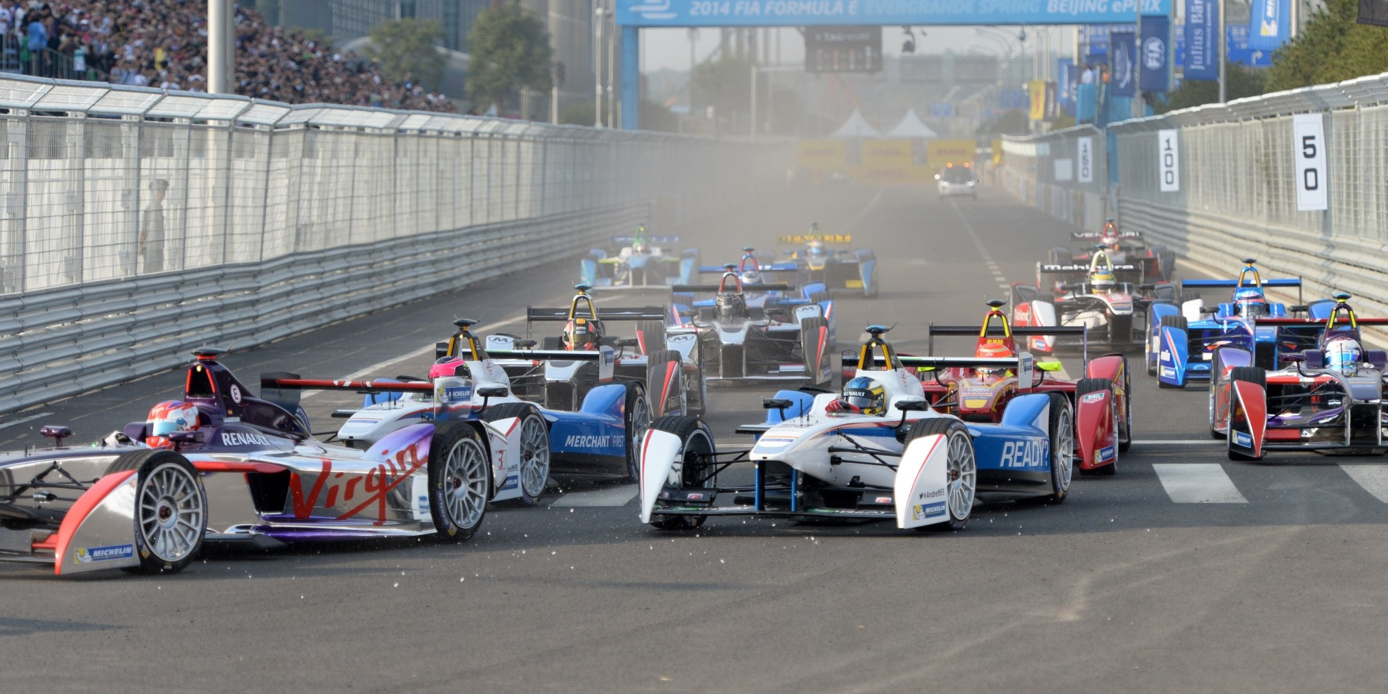 Formula E Ends Its First Race With Huge Crash  HuffPost UK