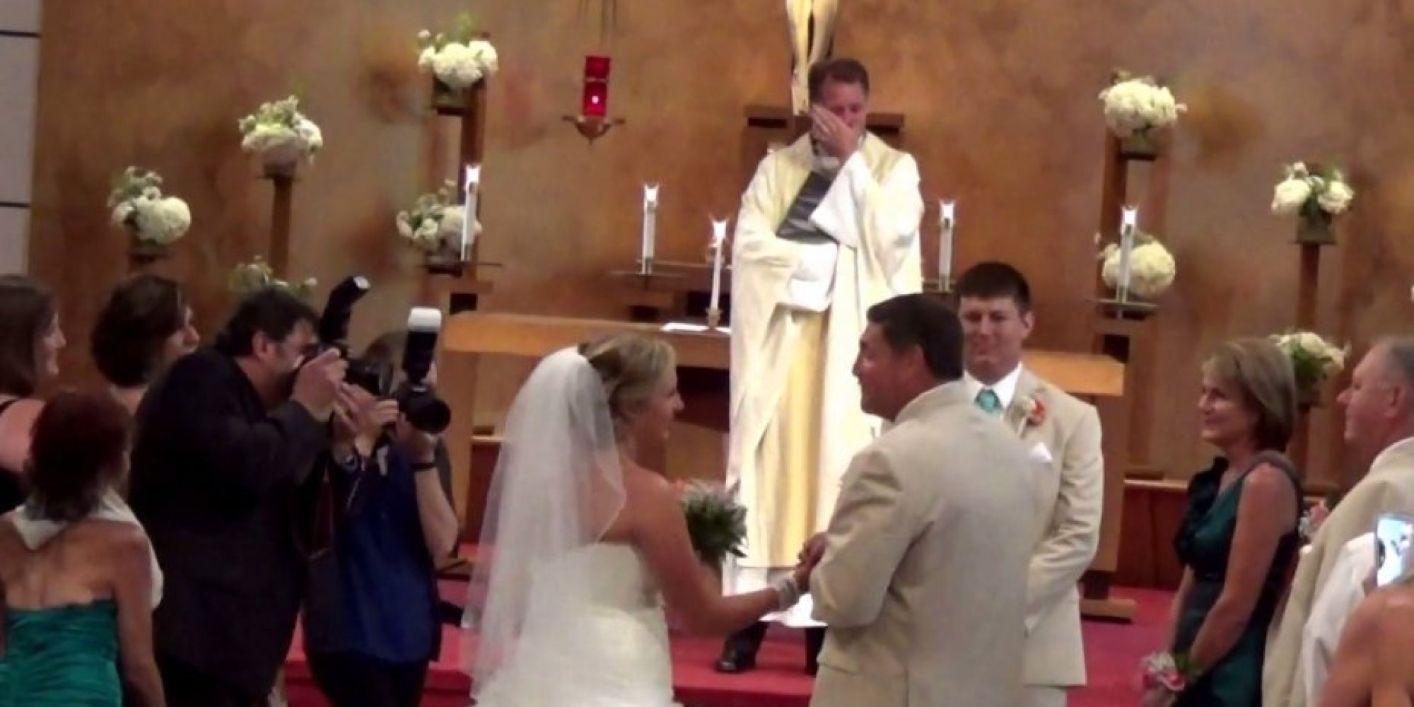 Father Of The Bride's Moving Song Brings Wedding Party To